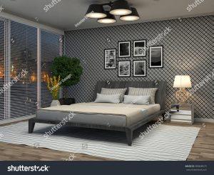 Bedroom photo illustration