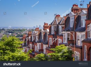 Brick houses in London