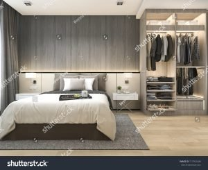 Modern bedroom with suites