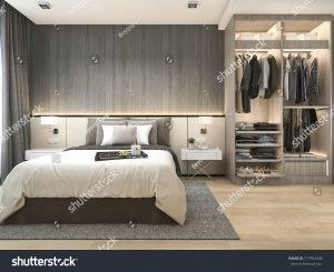 Modern bedroom with suites
