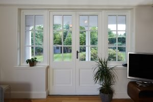 wooden french windows